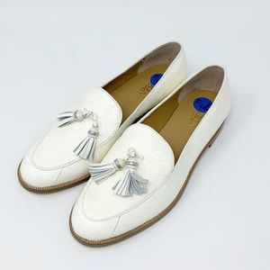 Ralph Lauren Croc Pattern Tassel Leather Loafers